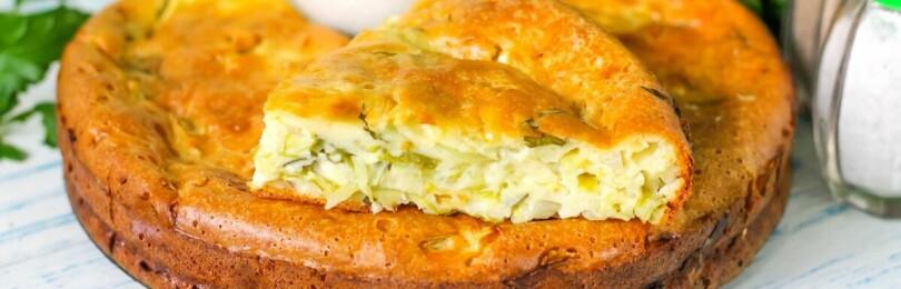 Рецепт заливного пирога с капустой в духовке
